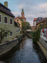 Chesky krumlov nice view of Stock Photography