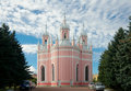 Chesme church saint petersburg russia back elevation september of st john the baptist by yury felten in gothic revival style it Royalty Free Stock Photos
