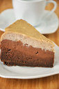 Chesnut Chocolate Cheesecake Stock Photography