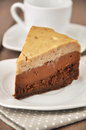 Chesnut Chocolate Cheesecake Royalty Free Stock Images
