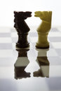 Chess alabaster a view of Royalty Free Stock Image