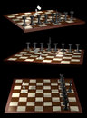 Chess allegory opposition citizen government views Royalty Free Stock Images