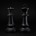 Chess. Black King and Queen Royalty Free Stock Photo