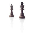 Chess. Black King and Queen, leadership concept Royalty Free Stock Image