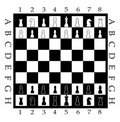 Chess Board with Chess Figure Stock Photography