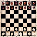 Chess board closeup with pieces Royalty Free Stock Images