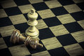 Chess on board , concept Losers and winners Royalty Free Stock Photo