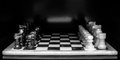 Chess board dark background Royalty Free Stock Photo
