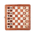 Chess board with figures isolated Stock Photos