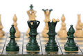 Chess board and pieces Royalty Free Stock Photo