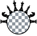 Chess board pieces vector illustration of Royalty Free Stock Images