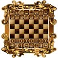 Chess board with rich ornamentation with shapes vector image of the Royalty Free Stock Images