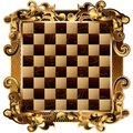 Chess board with rich ornamentation vector image of the Stock Photography