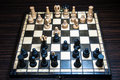 Chess board with tournament Stock Photography