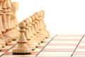 Chess on chessboard Royalty Free Stock Photos