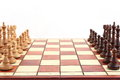 Chess on chessboard Royalty Free Stock Image