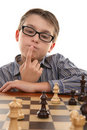 Chess - evaluating positions Royalty Free Stock Photography