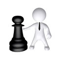 Chess and figure high class rendered for perfect message transportation Royalty Free Stock Photo