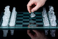 Chess first move Royalty Free Stock Photo