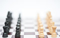 Chess game of strategy business concept Royalty Free Stock Photography