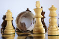 Chess and globe Royalty Free Stock Photography