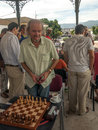 Chess grandmaster suart conquest the stuart in charity tournament held in the town of los barrios in spain it is an image in a Royalty Free Stock Image