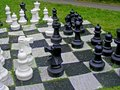 Chess great outdoors on a summer day Royalty Free Stock Photo