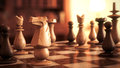 Chess horse black and white soldiers game macro focus d realise full hd Stock Photography