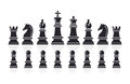 Chess Icons. Vector Illustrati...