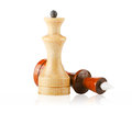 Chess isolated wood on a white background Stock Image