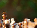 Chess king on chessboard Royalty Free Stock Images