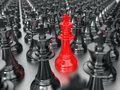 Chess king group Royalty Free Stock Image