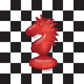 Chess knight transparent on a black and white background Royalty Free Stock Images