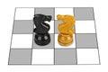Chess knights Royalty Free Stock Photo