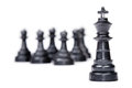 Chess leadership concept isolated on white background Royalty Free Stock Photography