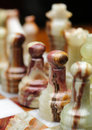 Chess macro close up image of board pieces Royalty Free Stock Photo
