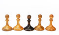 Chess old on the white background Royalty Free Stock Photo