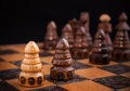 Chess, one against all concept Royalty Free Stock Photo