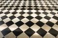 Chess pattern floor Royalty Free Stock Photo
