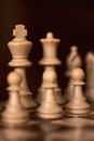 Chess pawns in row Royalty Free Stock Photo