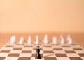 Chess pieces as metaphor - authority Royalty Free Stock Photo