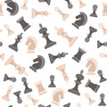 Chess Pieces Background Pattern. Vector Royalty Free Stock Photo