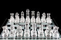 Chess pieces on chess board Stock Image