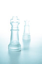 Chess pieces King and Queen Stock Photography