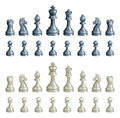 Chess pieces set Stock Image