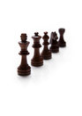 Chess pieces set on white background Royalty Free Stock Photo