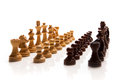 Chess pieces set on white background Royalty Free Stock Image