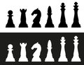 Chess pieces vector illustration Stock Photos