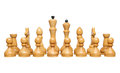 Chess pieces on white background Royalty Free Stock Photos