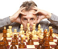Chess player Royalty Free Stock Image